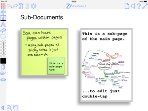 Sub-documents